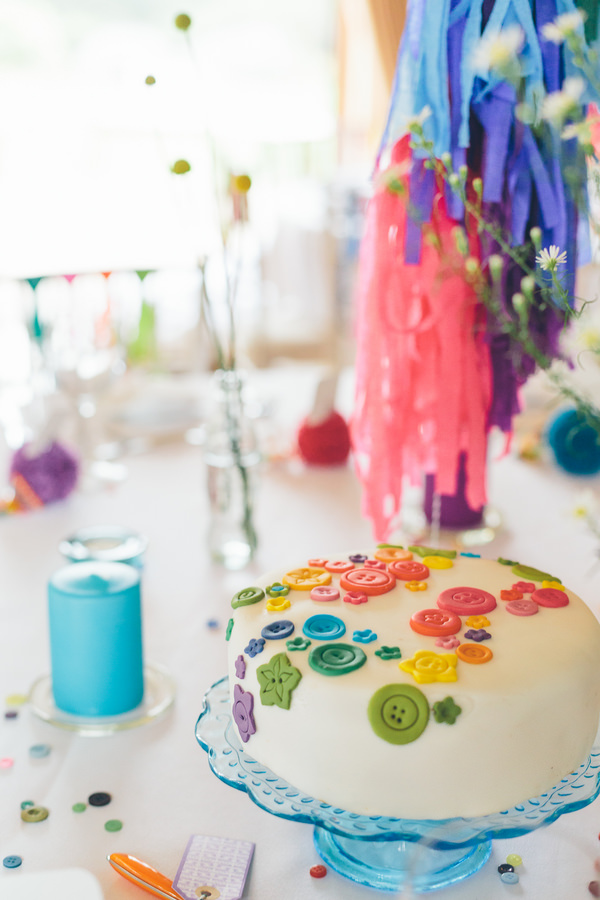 Creative Fun Rainbow Wedding Cake Buttons http://www.christinewehrmeier.com/