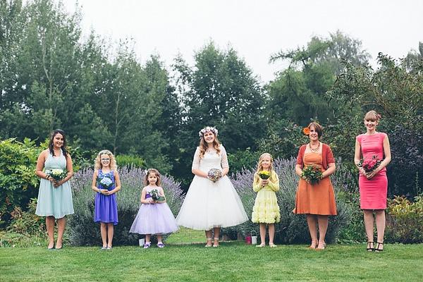 Creative Fun Rainbow Wedding Bridesmaids http://www.christinewehrmeier.com/