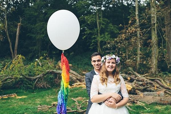 Creative Fun Rainbow Wedding Tassel Balloon http://www.christinewehrmeier.com/