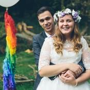 Whimsical Creative & Fun Rainbow Wedding