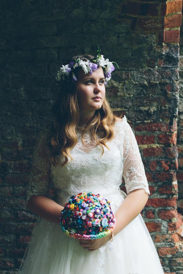 Creative Fun Rainbow Wedding Flower Crown Headdress Bride  http://www.christinewehrmeier.com/