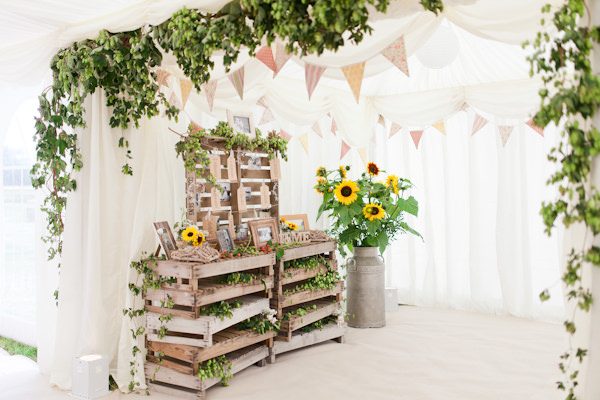 Country Rustic Home Farm Wedding Crate Table Plan http://www.whitestagweddings.com/