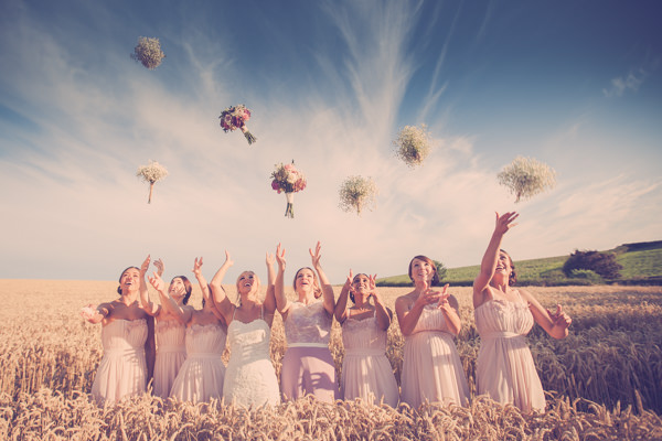 Pretty Pink Country Farm Wales Wedding Filled with Gypsophila & Roses