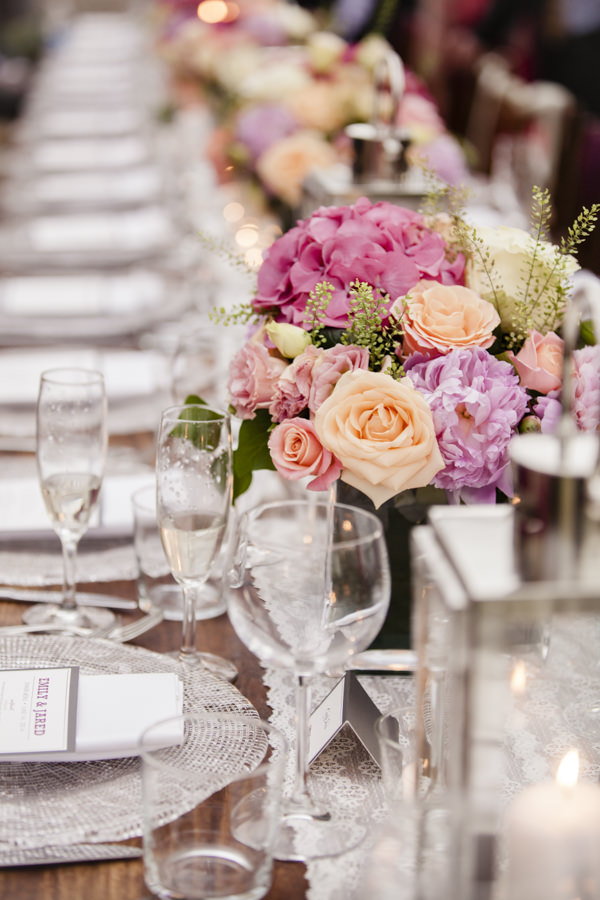 Tuscan Countryside Destination Wedding Pink Orange Flowers Table http://www.angelicabraccini.com/