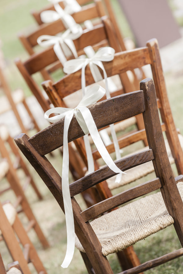 Tuscan Countryside Destination Wedding Rustic Chairs Wooden Ribbon  http://www.angelicabraccini.com/