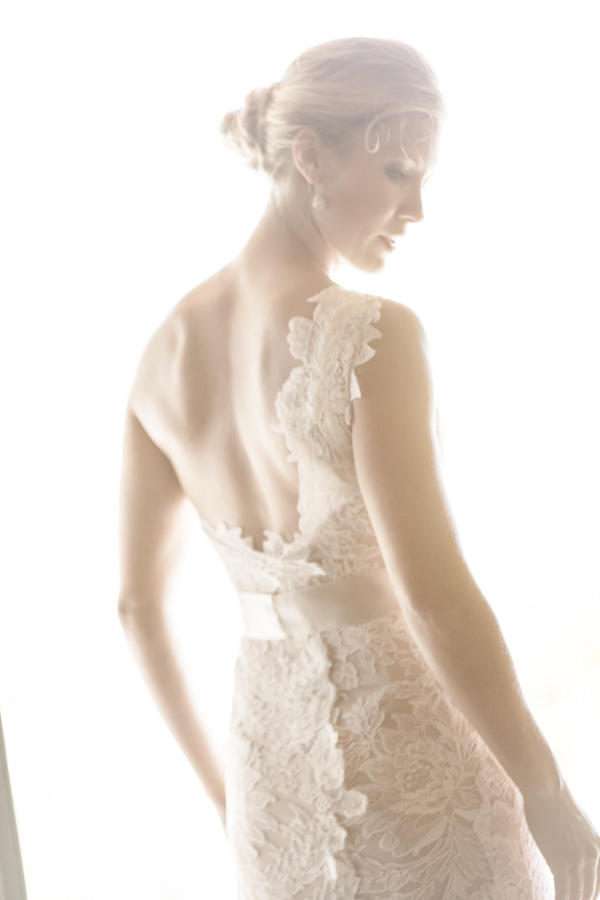 Tuscan Countryside Destination Wedding Assymetric Lace Dress Bride http://www.angelicabraccini.com/