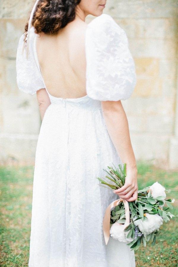 Beautiful Summer Provence Flower Wedding Ideas Vintage 1980s Dress Bride  http://www.brittspring.com/
