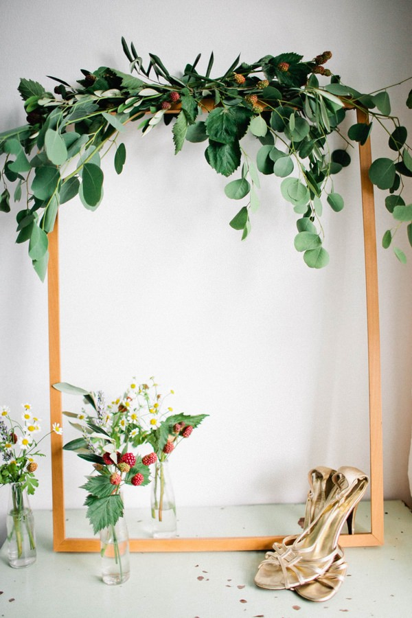 Beautiful Summer Provence Flower Wedding Ideas Flower Arch Foliage Berries Backdrop  http://www.brittspring.com/