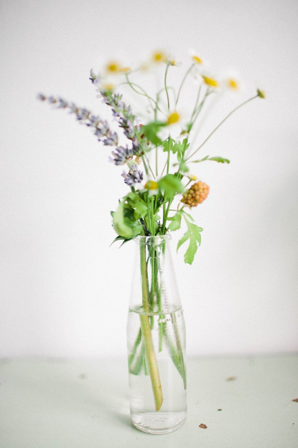 Beautiful Summer Provence Flower Wedding Ideas Bottle Flowers Daisy Lavender Berries http://www.brittspring.com/