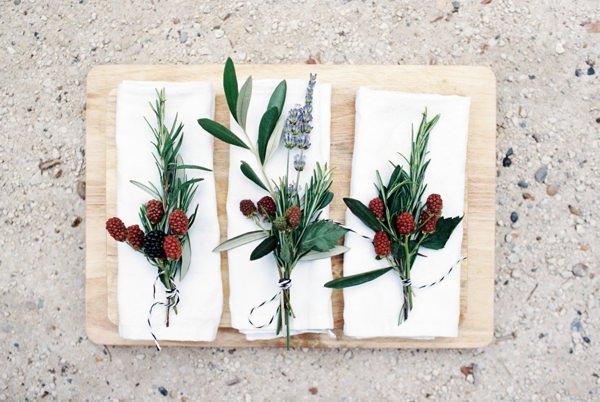 Berry Herb Buttonhole Boutonnière Beautiful Summer Provence Flower Wedding Ideas http://www.brittspring.com/