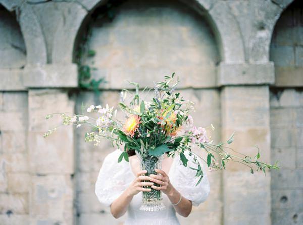 Whimsical Wild Flower Arrangement Vase Beautiful Summer Provence Flower Wedding Ideas http://www.brittspring.com/