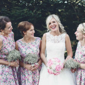 Ditsy Floral Pretty Pink Country & Seaside Wedding