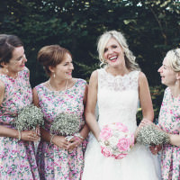 Pretty Pink Country Seaside Wedding http://www.cristinarossi.co.uk/