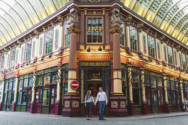 Lovely London Market & Park Engagement