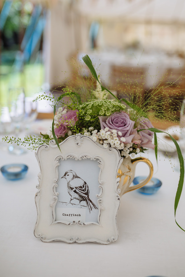 Bird Table Names Numbers Pretty Quaint Country Marquee Wedding http://jamesandlianne.com/