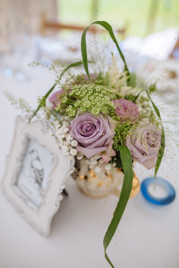 Dusky Pink Rose Table Flowers Centrepiece Pretty Quaint Country Marquee Wedding http://jamesandlianne.com/