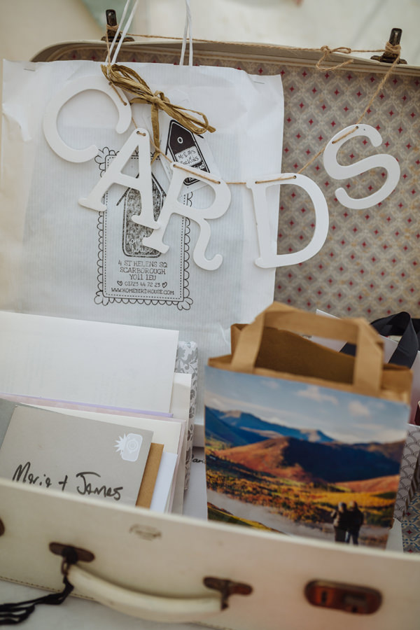 Cards Suitcase Pretty Quaint Country Marquee Wedding http://jamesandlianne.com/