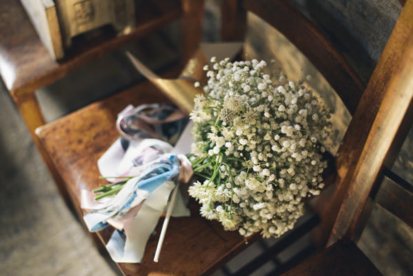 Gypsophila Bouquet Bridesmaid Eclectic DIY London Wedding http://chironcole.com/