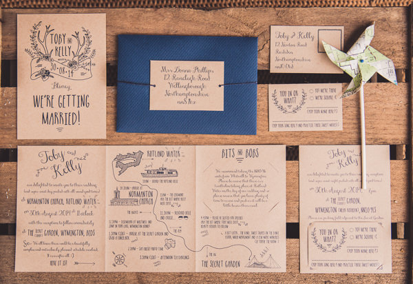 Rustic Unintentional Americana Tipi Wedding Stag Brown Paper Stationery  http://www.georgimabee.com/