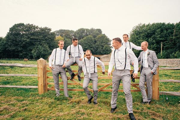 Colourful Homemade Village Hall Wedding Braces Boys Groomsmen Style http://hollydeacondesign.com/