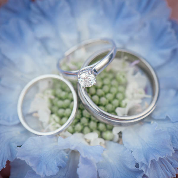 Colourful Homemade Village Hall Wedding Princess Cut Diamond Engagement Ring http://hollydeacondesign.com/