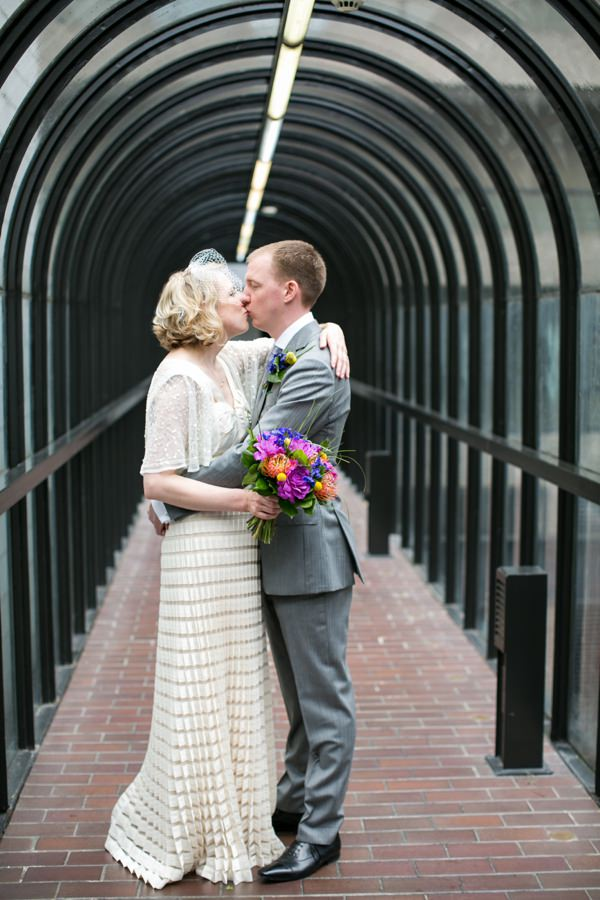 Modern Art Deco Conservatory City Wedding