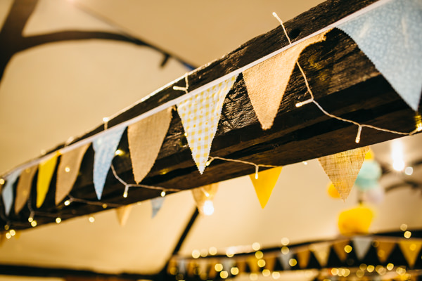 Earthy Natural Rustic Yellow Turquoise Wedding Bunting http://www.graceandtheheart.co.uk