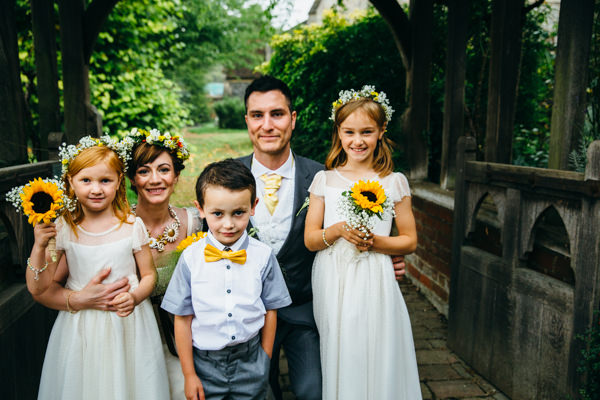Earthy Natural Rustic Yellow Turquoise Wedding Children Flowergirls Page Boy http://www.graceandtheheart.co.uk