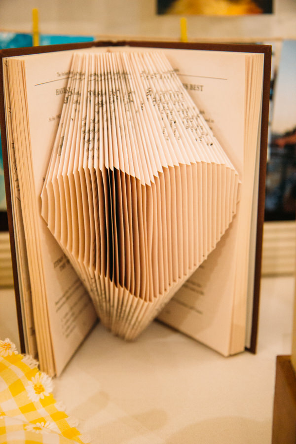 Earthy Natural Rustic Yellow Turquoise Wedding Heart Book Art http://www.graceandtheheart.co.uk