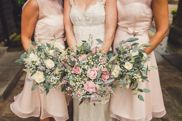 Quirky Stylish Lovely Big Party Wedding Rose Bouquets Flowers Bride Bridesmaids http://www.mattbrownphotography.co.uk/