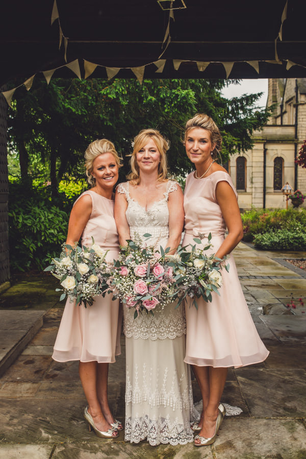 Quirky Stylish Lovely Big Party Wedding Baby Pink Bridesmaids  http://www.mattbrownphotography.co.uk/