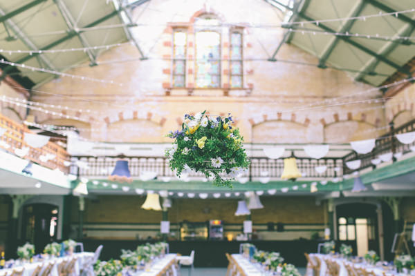 Creative Hand Crafted Swimming Pool Wedding Hanging Flowers http://www.emmaboileau.co.uk/