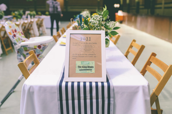 Creative Hand Crafted Swimming Pool Wedding Year Table Names  http://www.emmaboileau.co.uk/