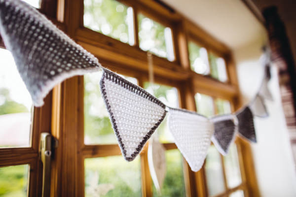Crochet Bunting Vintage Creative Yellow 'Greys' Waterfall Woods Wedding http://www.lucylittle.co.uk/