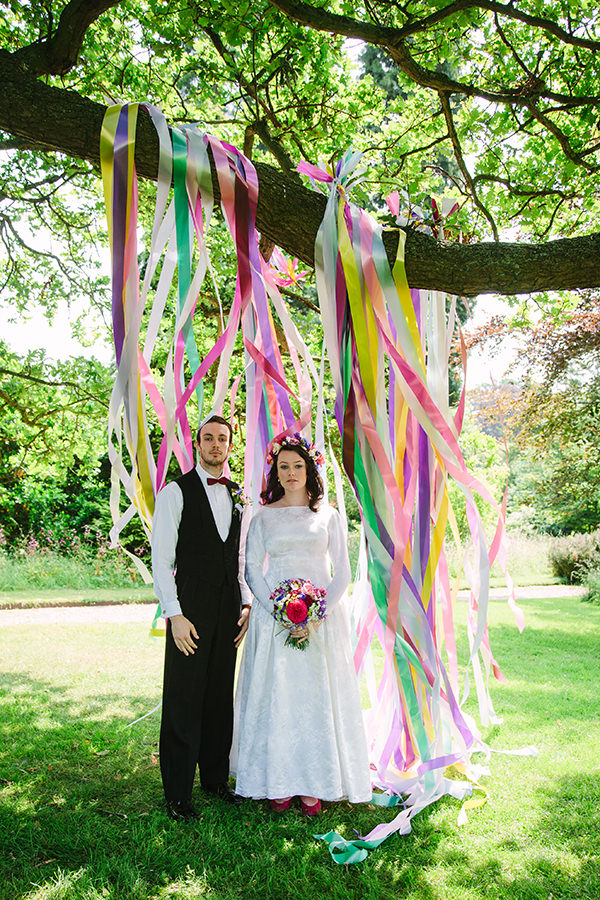 Colourful Outdoor Blooms & Ribbons Wedding Ideas