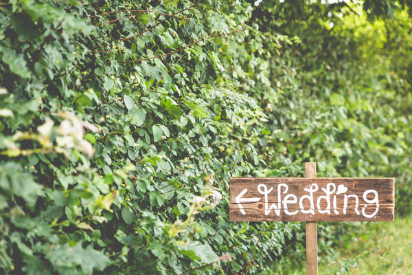 Rustic Wood Sign Quirky Summer Country Garden Wedding http://lovethatsmilephotography.com/