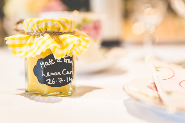 Lemon Curd Favours Favors Gingham Jar Quirky Summer Country Garden Wedding http://lovethatsmilephotography.com/
