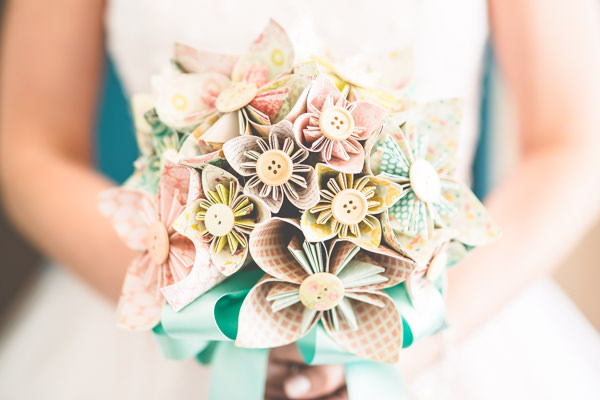 Paper Flowers Bouquet Bridal Alternative Vintage Tea Party Tipi Wedding  http://lovethatsmilephotography.com/