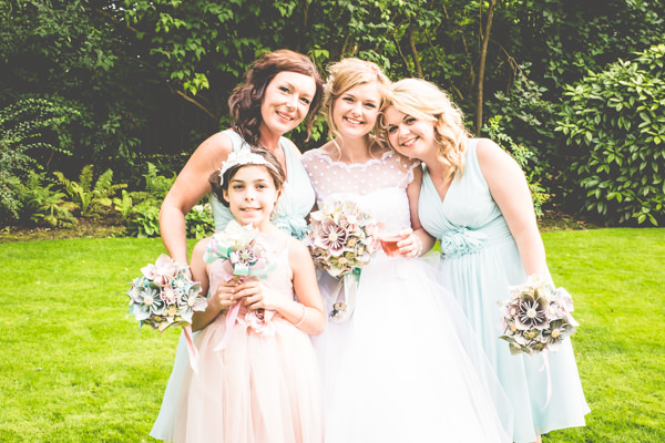 Pastel Bridesmaid Dresses Vintage Tea Party Tipi Wedding  http://lovethatsmilephotography.com/