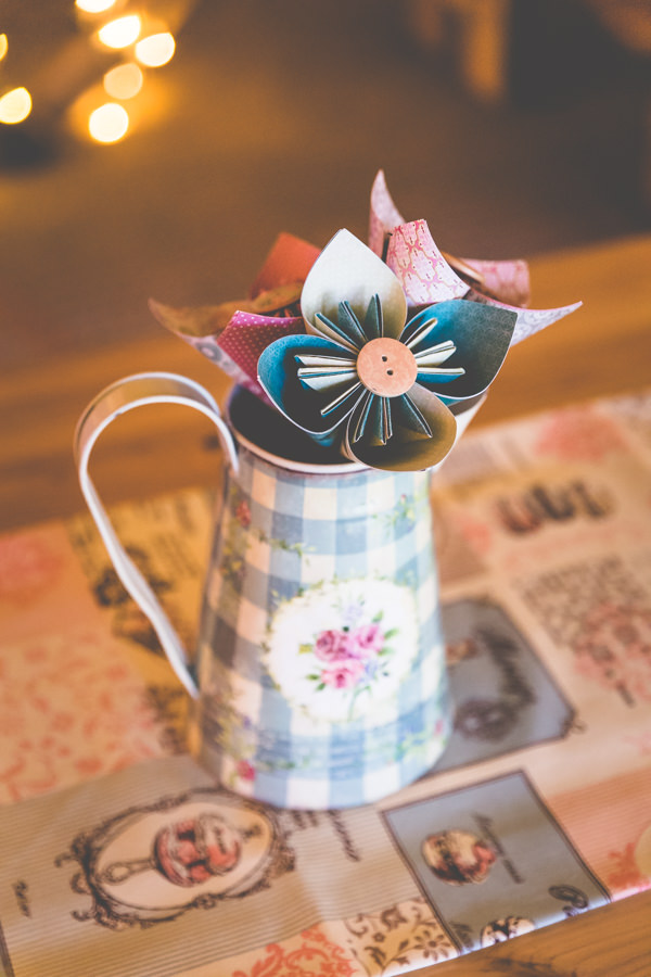 Paper Flowers Origami Jugs Centrepiece Vintage Tea Party Tipi Wedding  http://lovethatsmilephotography.com/