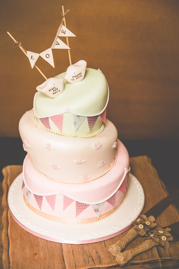 Pastel Bunting Cake Vintage Tea Party Tipi Wedding  http://lovethatsmilephotography.com/