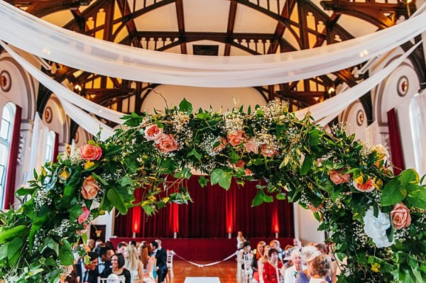 Flower Arch Ceremony Backdrop Colourful Home Made Multicultural Wedding http://www.babbphoto.com/