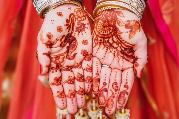 Henna Bride Hands Colourful Home Made Multicultural Wedding http://www.babbphoto.com/