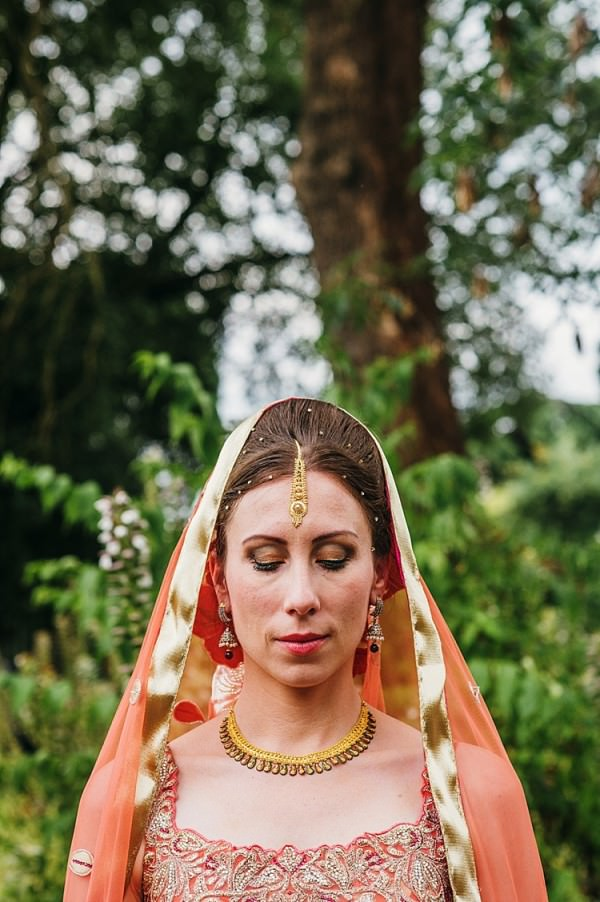 Indian Sikh Bride Dress Style Colourful Home Made Multicultural Wedding http://www.babbphoto.com/