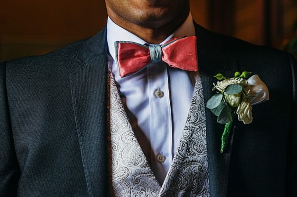 Bow Tie Groom Colourful Home Made Multicultural Wedding http://www.babbphoto.com/