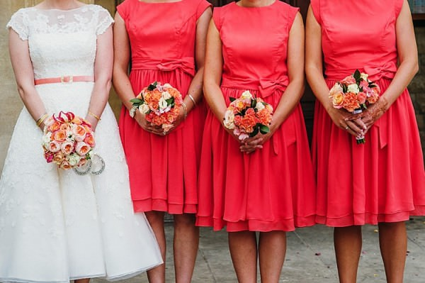 Coral Orange Bridesmaids Colourful Home Made Multicultural Wedding http://www.babbphoto.com/