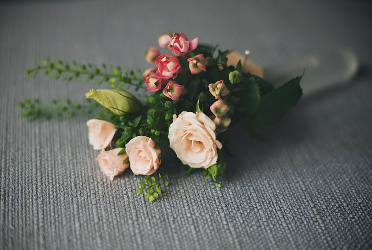 Buttonhole Pretty Pink Shabby Chic Barn Wedding http://verman.co.uk/