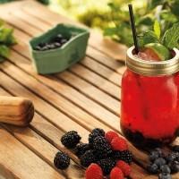 The Secret Garden Wedding Cocktail Summer Fun Recipe Jar Straw