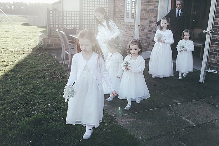 Flowergirls Whimsical Green White Fairy Lights Winter Wedding http://jesspetrie.com/