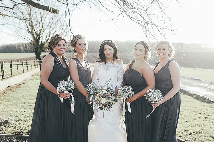 Grey Bridesmaid Dresses Whimsical Green White Fairy Lights Winter Wedding http://jesspetrie.com/